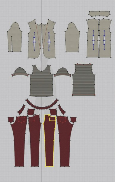 Marvelous Designer patterns